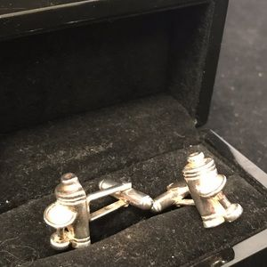 Jan Leslie Cuff Links Martini Glass and Shaker
